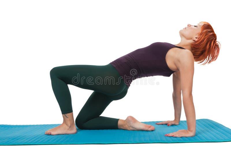 Download Girl Practicing Yogatic Asana Stock Photo - Image: 15452152