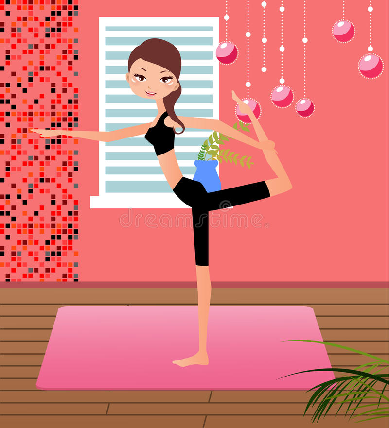 Download Girl practising yoga stock vector. Image of muscular - 11256168