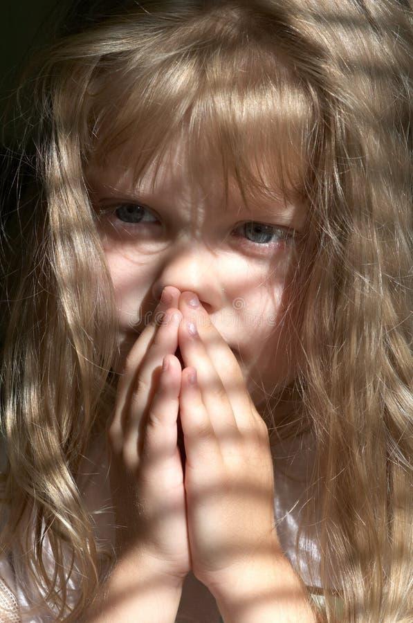 Girl prayer royalty free stock image
