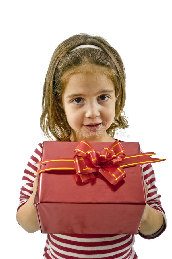 Download Girl with present stock image. Image of bright, holiday - 6815007