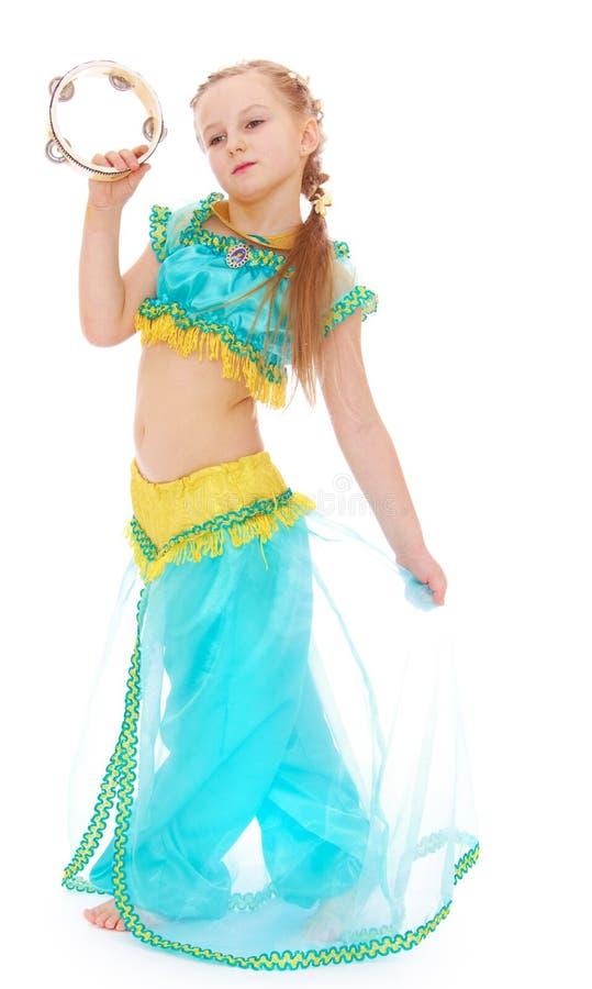 Girl in Princess costume stock photo