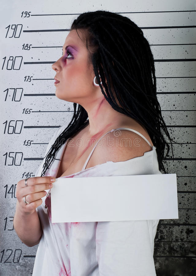 Girl In Prison Royalty Free Stock Photography
