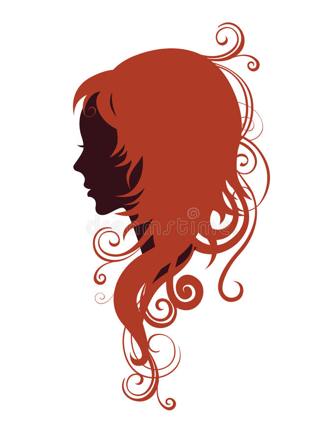 Download Girl in profile stock illustration. Image of profile - 11679858