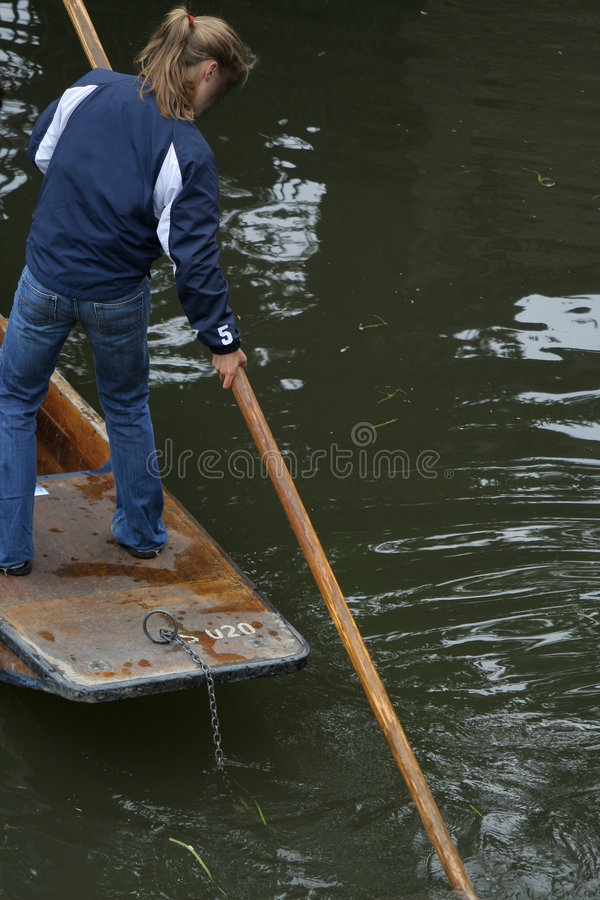 Free Girl Punting At Cambridge Stock Images - 2667564