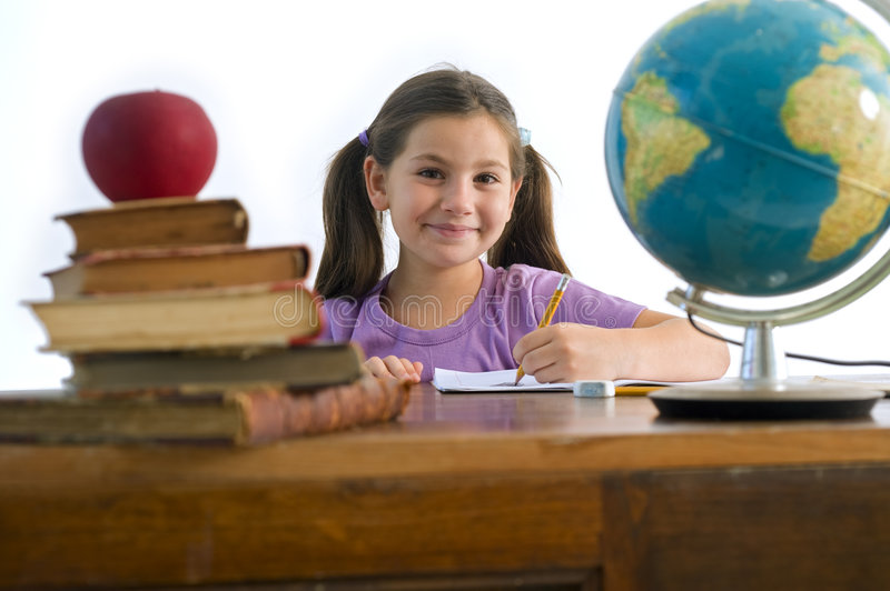 Girl pupil royalty free stock images
