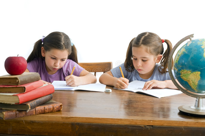 Download Girl pupils stock photo. Image of isolated, girl, concentrate - 5733978