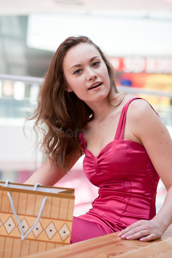 Download Girl with purchases stock photo. Image of smiling, person - 20056492