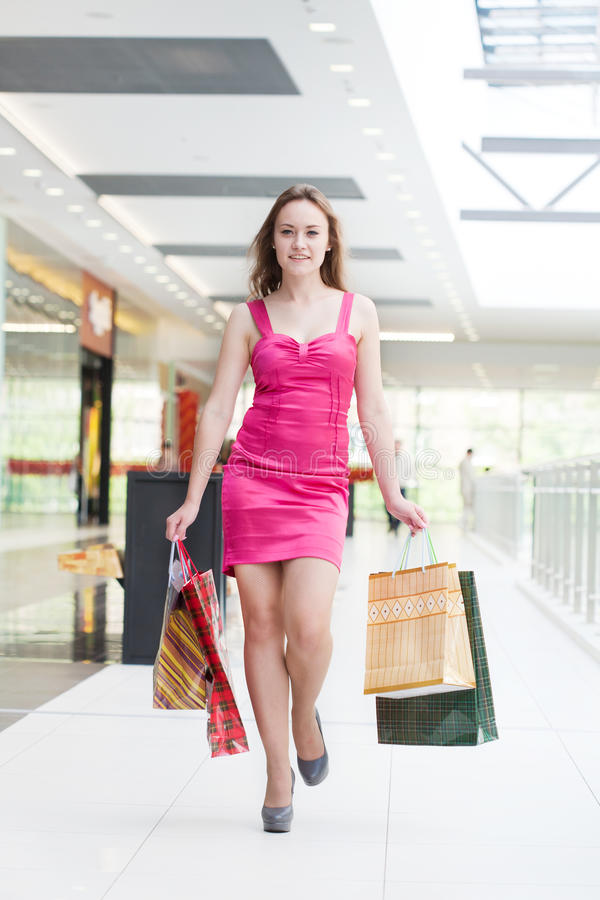 Download Girl with purchases stock image. Image of pleasure, purchases - 20132257