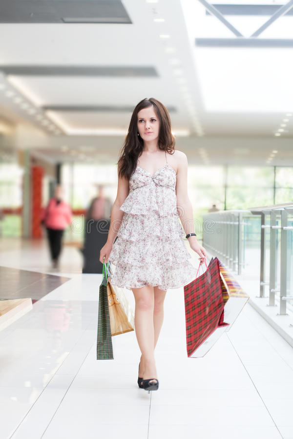 Download Girl with purchases stock photo. Image of gossip, carefree - 20132258