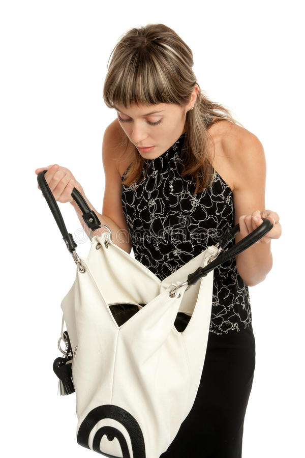 Download Girl with purse stock photo. Image of female, person - 11308710