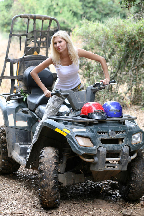 Download Girl in quad stock photo. Image of vehicle, dangerous - 10524300