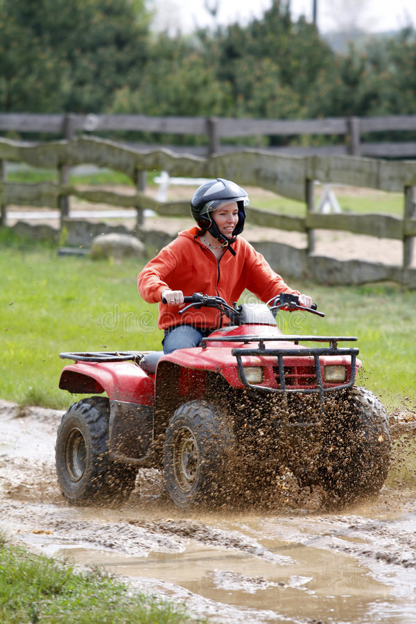 Girl in quad stock images