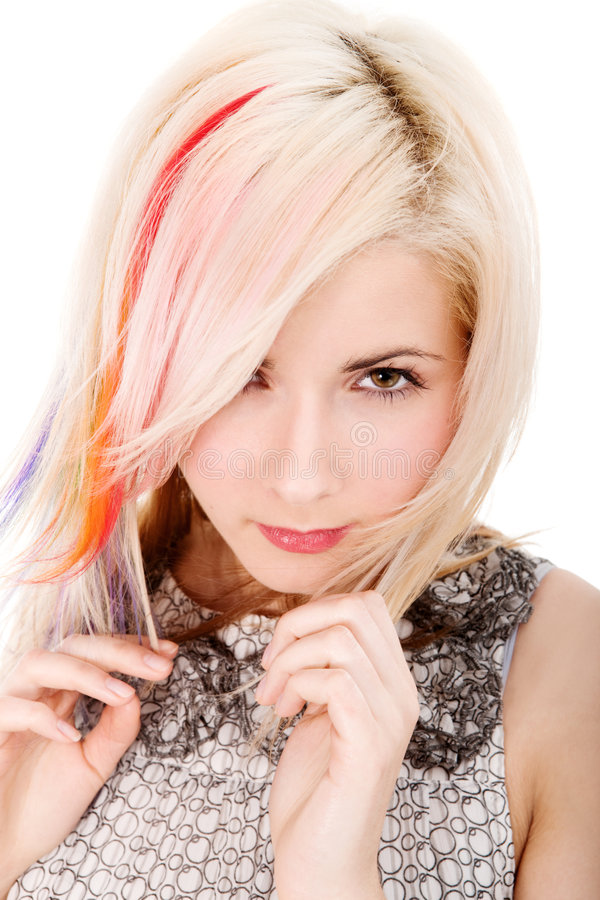 Download Girl with rainbow haircut stock image. Image of glamouros - 8256275