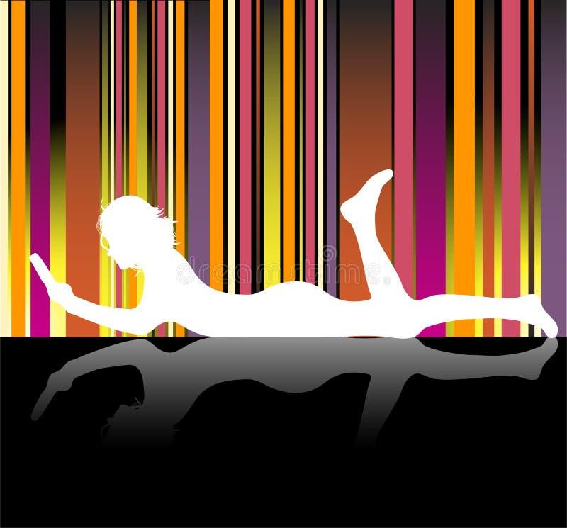 Download Girl Reading stock vector. Illustration of carpet, school - 10090016