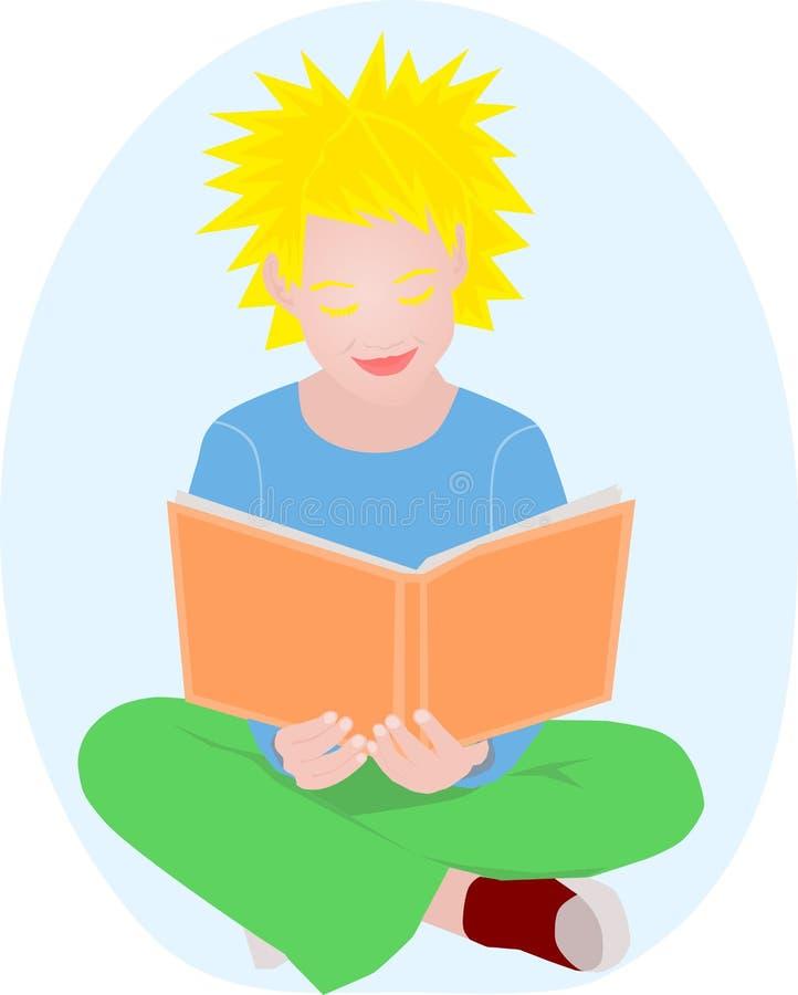 Download Girl reading stock vector. Image of teen, floor, beautiful - 18078930