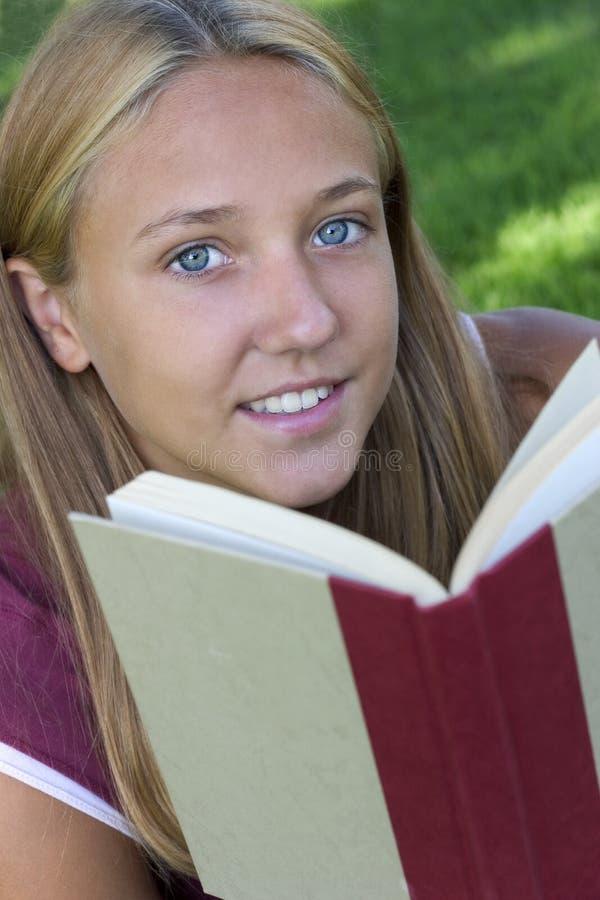 Girl Reading stock photo