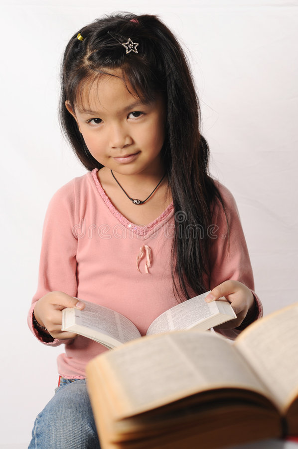 Download Girl reading stock image. Image of girl, dictionary, studying - 6970083