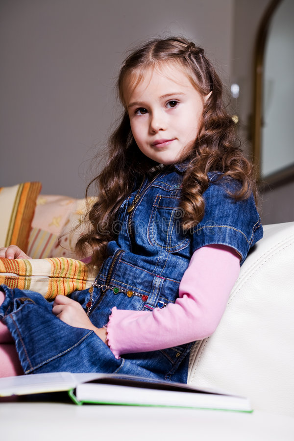 Download Girl reading book 10 stock image. Image of education, girl - 6993989