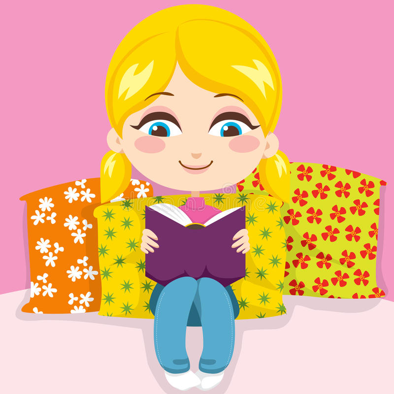 Download Girl Reading Book stock vector. Image of small, smile - 19874541