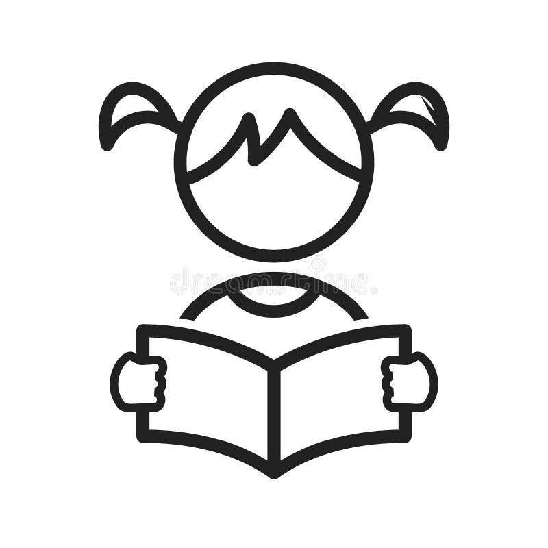 Girl Reading stock illustration