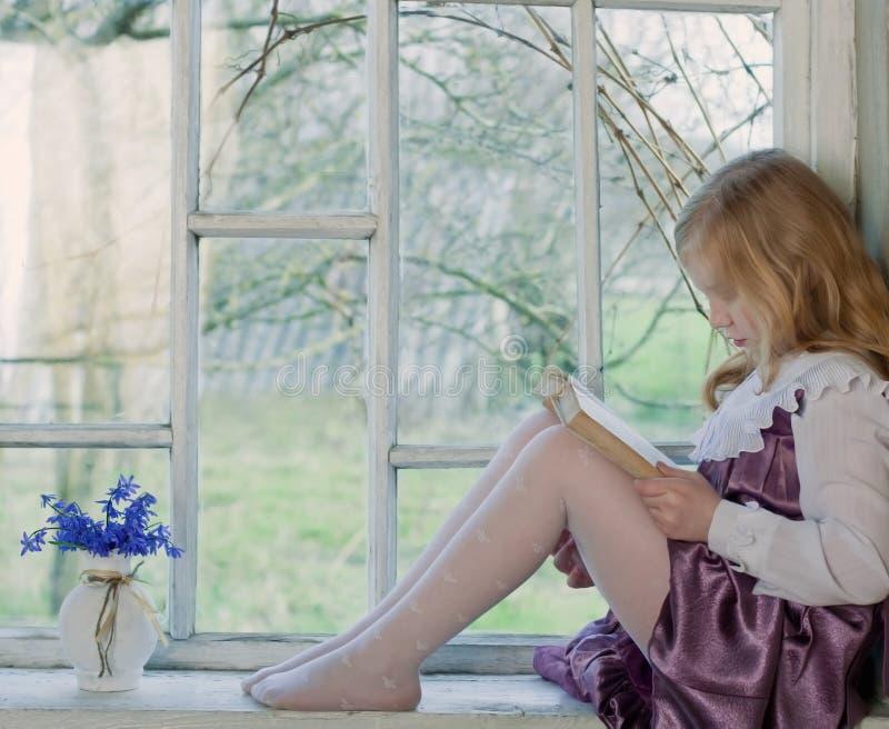 Download Girl Reading Book Indoor Stock Image - Image: 24671201