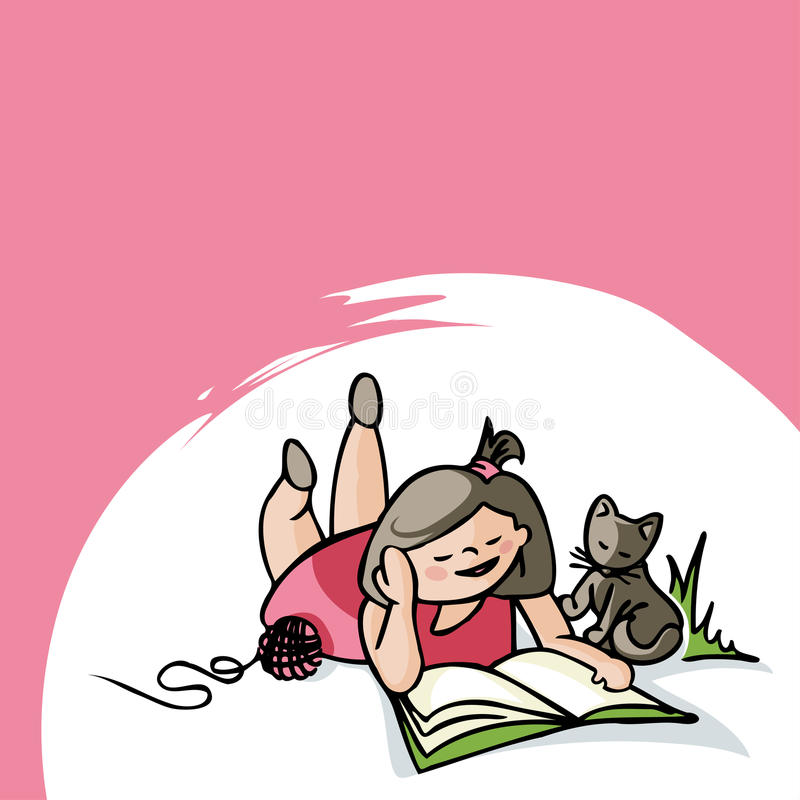Download Girl reading stock vector. Illustration of playing, girl - 35209936