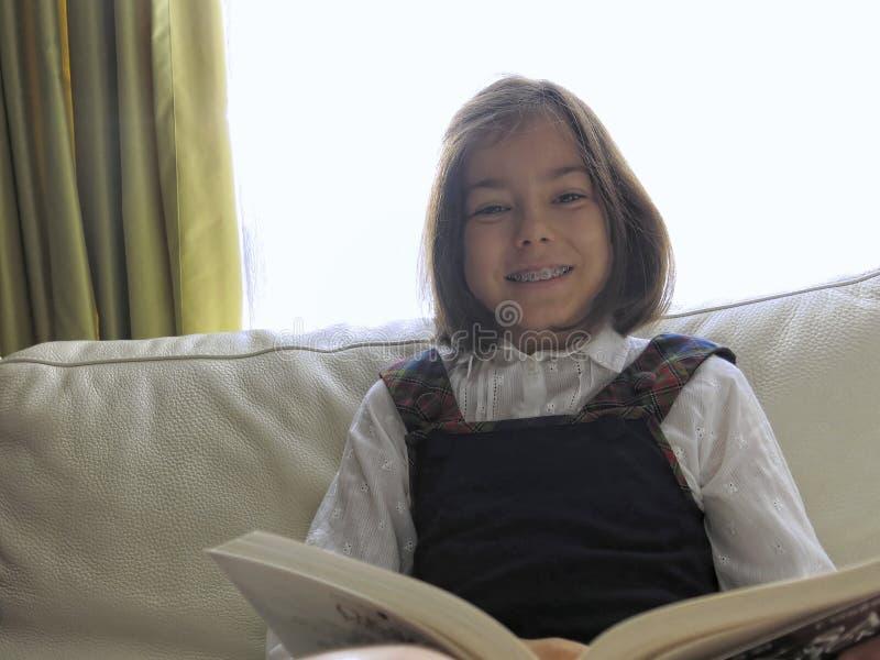 Girl reading stock photos
