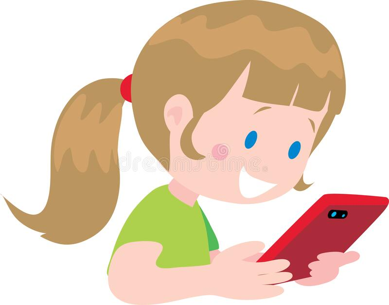 Girl Message Mobile Phone Stock Illustrations – 7,257 Girl Message Mobile  Phone Stock Illustrations, Vectors & Clipart - Dreamstime