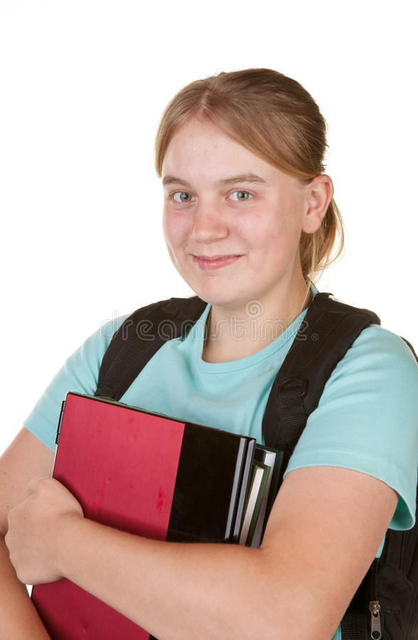 Girl Ready For College Stock Images