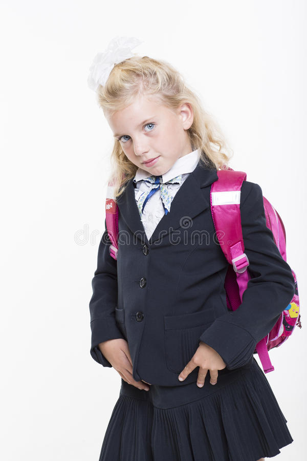 Download Girl Is Ready For New School Year Royalty Free Stock Images - Image: 33438239