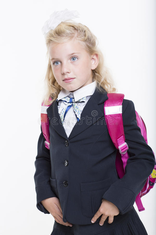 Download Girl Is Ready For New School Year Stock Photo - Image: 33438248