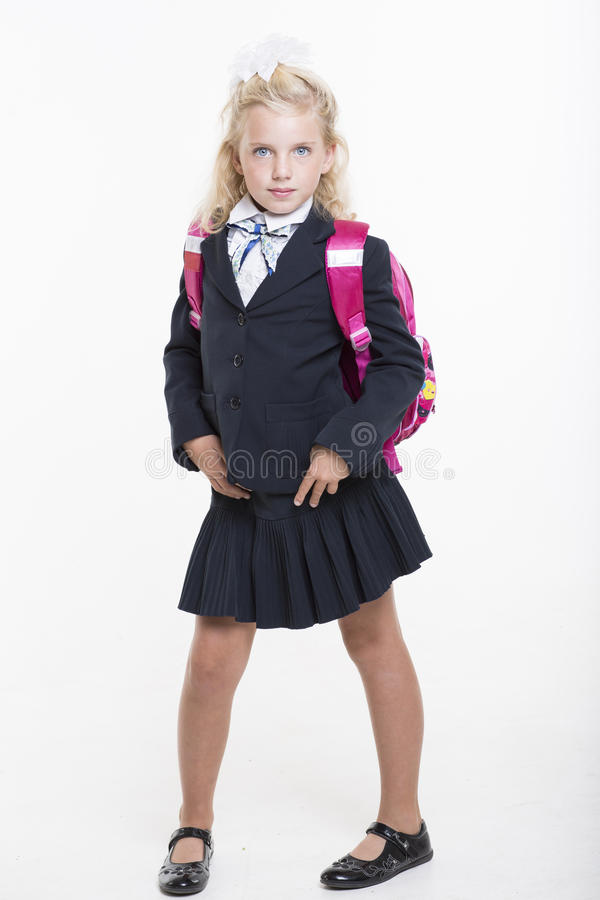Download Girl Is Ready For New School Year Stock Photo - Image: 33438264