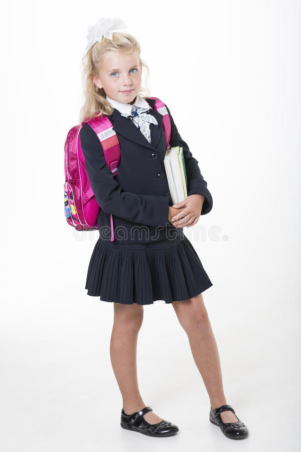 Download Girl Is Ready For New School Year Stock Photo - Image: 33438296