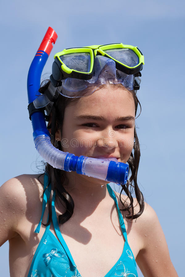 Download Girl Ready To Swim And Dive Stock Image - Image: 10375483
