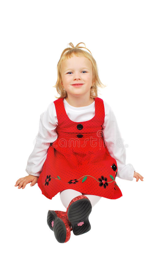 Download Girl in  red stock image. Image of happiness, high, childhood - 11413071
