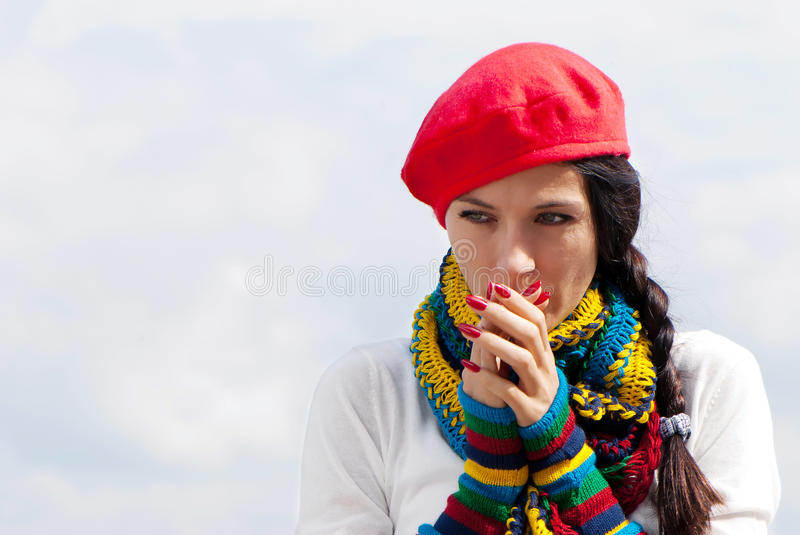 The girl in a red beret
