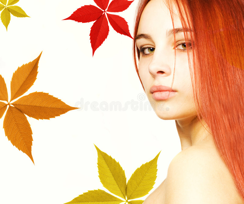 Girl with a red hair