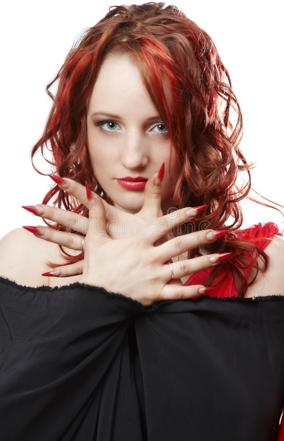 Download The Girl With Red Hair Royalty Free Stock Image - Image: 6789886