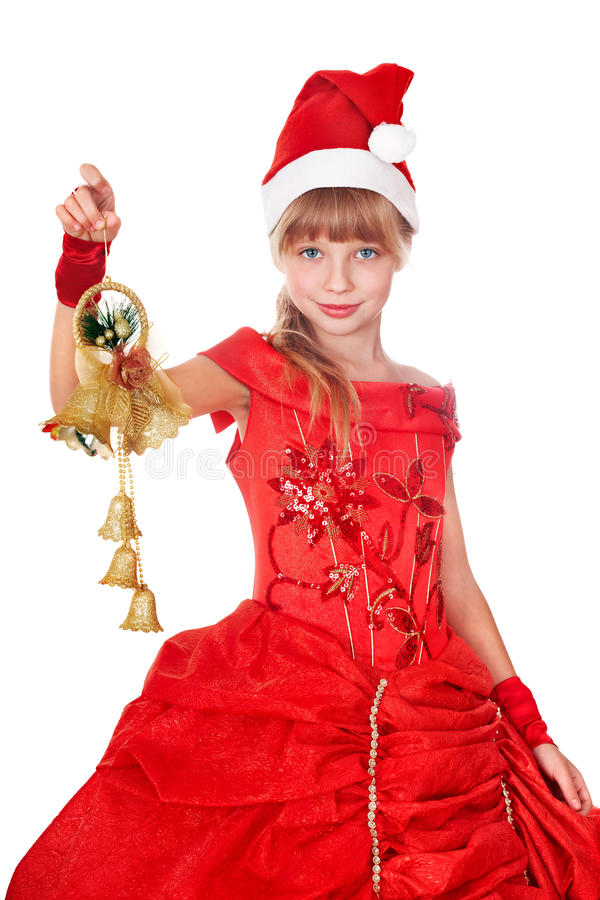 Download Girl In Red Santa Hat. Royalty Free Stock Photography - Image: 17143187