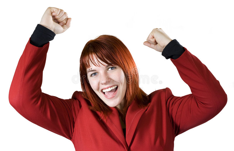 Download Girl rejoicing a win stock photo. Image of people, deal - 3942164