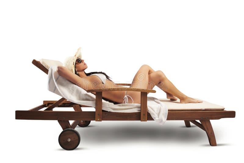 Girl Relaxing Stock Photos
