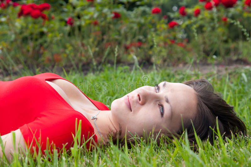 Girl Relaxing Stock Images
