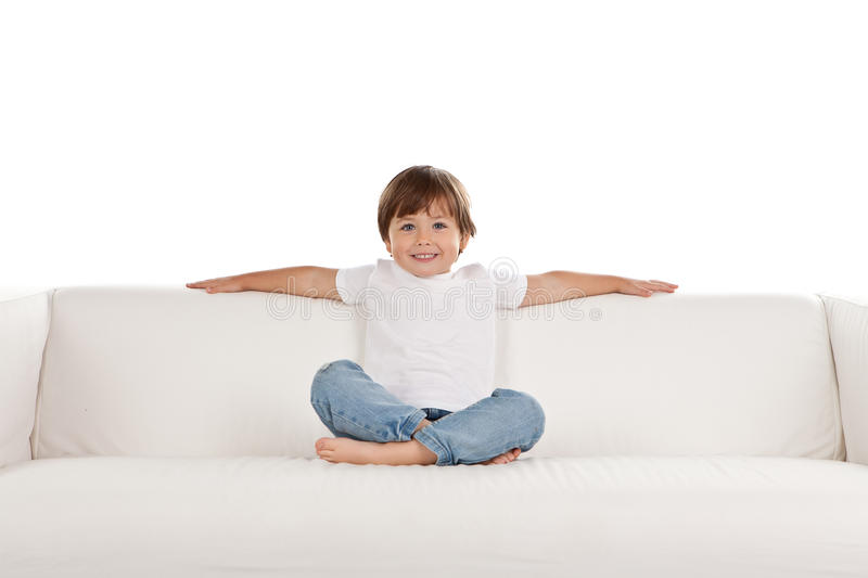 Download Girl Relaxing On Settee Stock Images - Image: 21755914