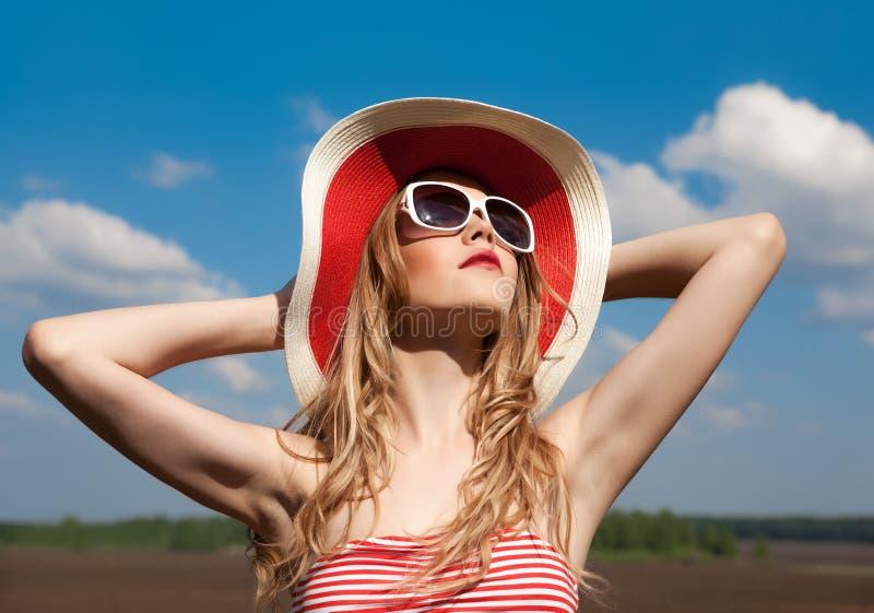 girl relaxing summer