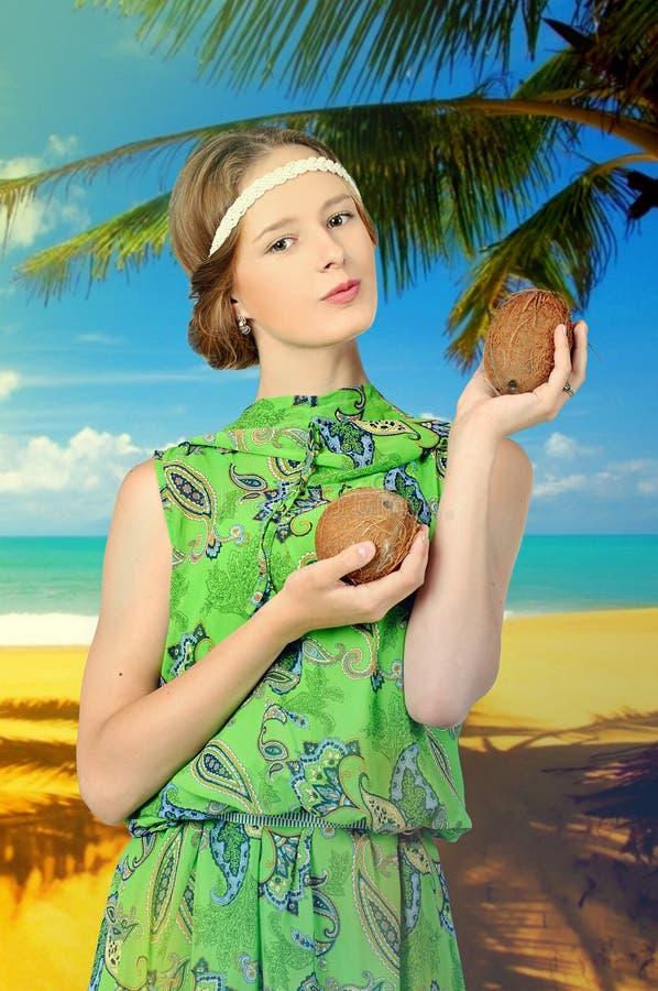 Download Girl at the resort stock image. Image of trip, ocean - 32000963