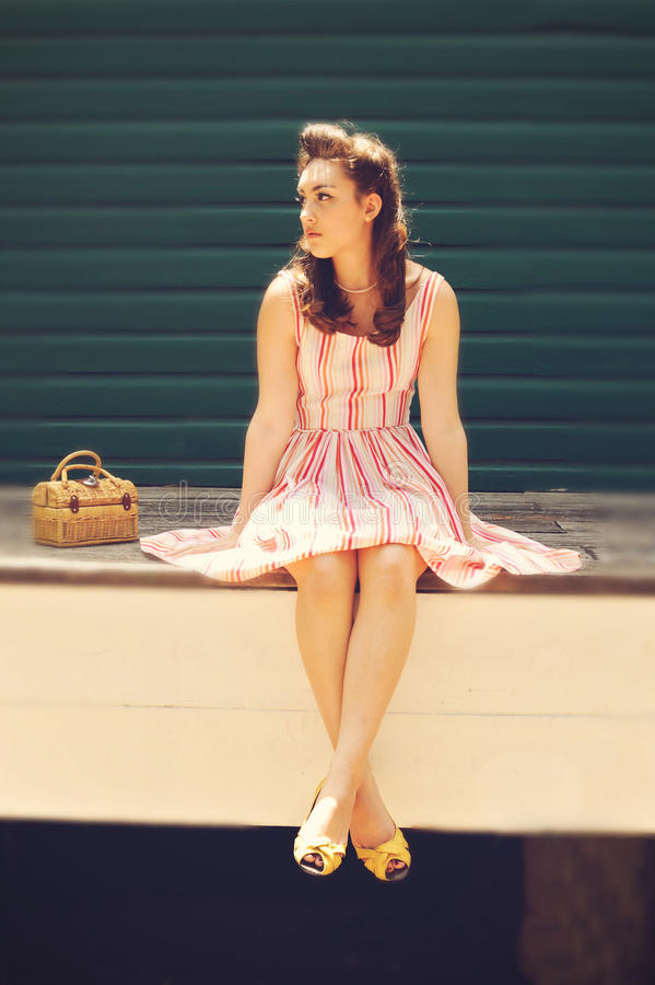 Download Girl In Retro Clothes Stock Photography - Image: 19818132