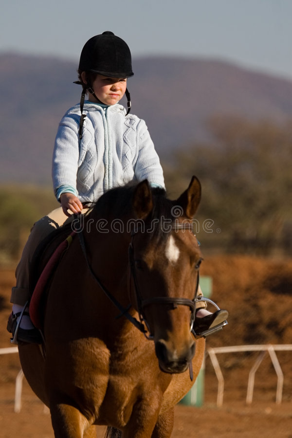Girl rider stock photography