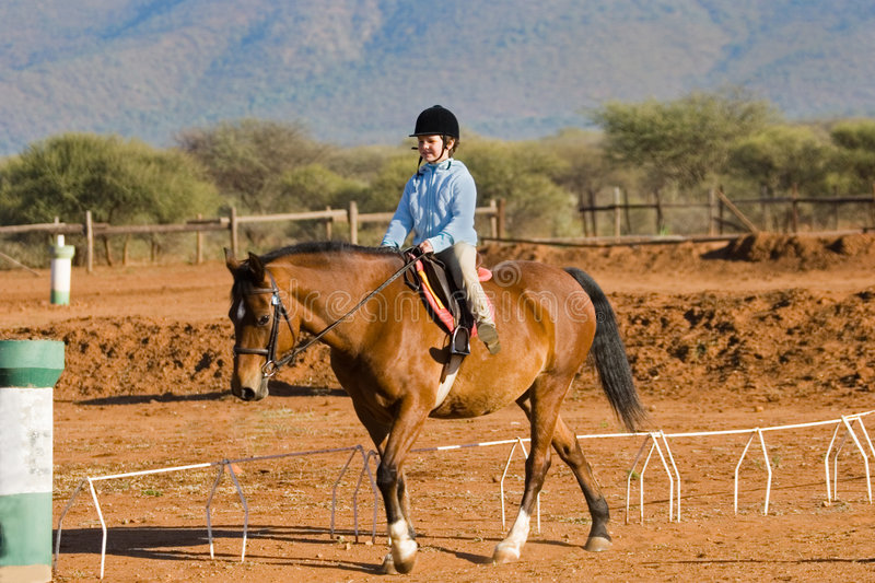Girl rider royalty free stock images