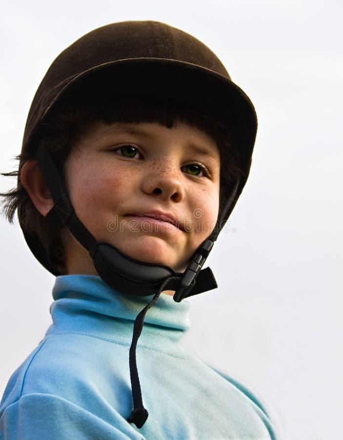 Girl rider stock photo