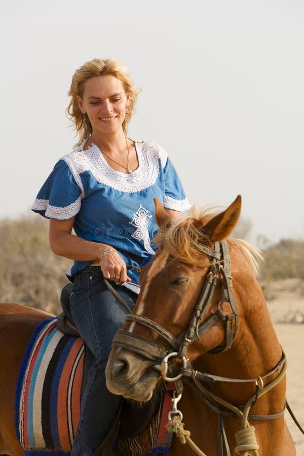 Girl riding stock photo